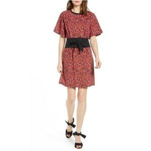 Rebecca Minkoff Marta Belted Red Floral  Dress XS